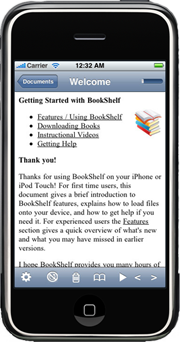 Tomes screen shot displaying War and Peace